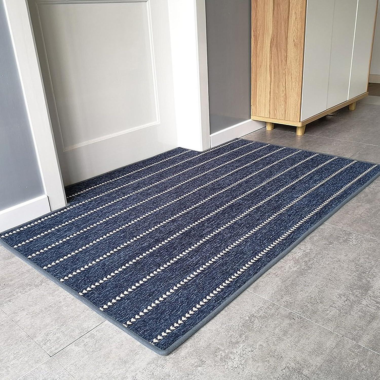 Doormat Door mats Home mats Carpets Carpets Beside The Bed Stylish Non-Slip mats Foot-to-Door mats Bedroom Doormats Soft and Comfortable (color   bluee, Size   100  100cm)