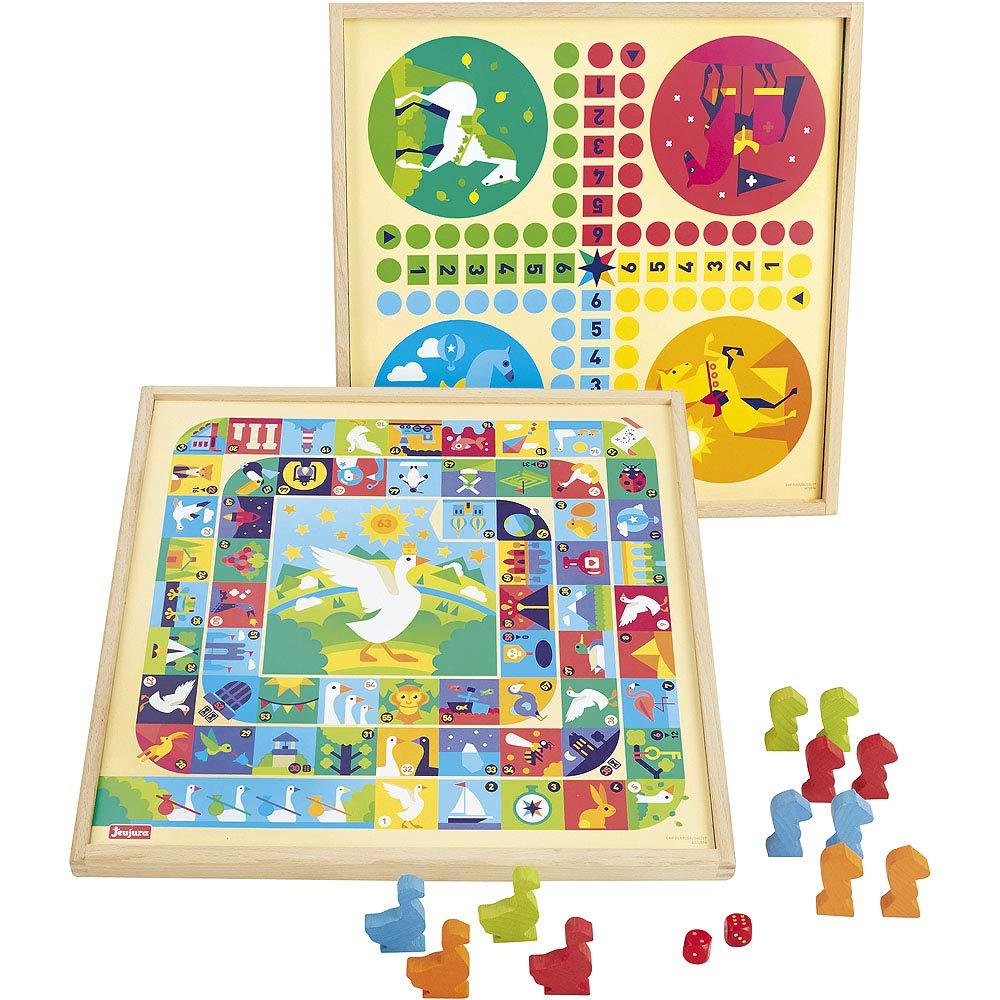 Jeujura – 8115 – Juego de la oca y pequeño Caballo – Bandeja de Madera (: Amazon.es: Juguetes y juegos