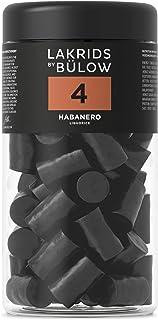 LAKRIDS BY BÜLOW - 4 - HABANERO - 360g - Süße Gourmet Lakritze mit würzigem Habanero-Chili - Glutenfrei & ohne Gelatine - Dose aus 100% rPET - Süßigkeiten Geschenk für Lakritze Liebhaber