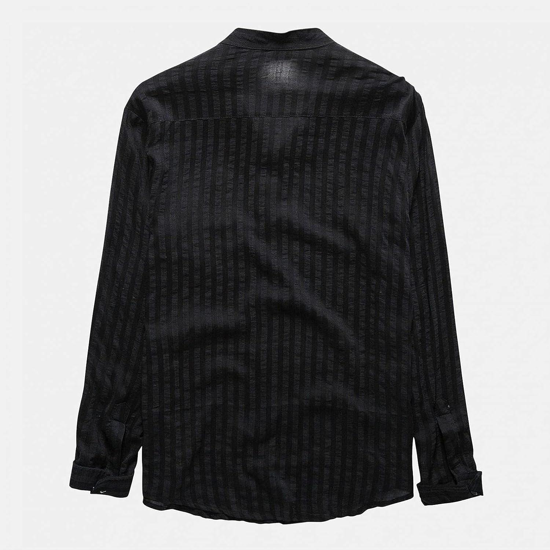 Aayomet Men's Cotton Linen Shirts Baggy Long Sleeve T-Shirt Workout Casual Loose Yoga Sport Beach Tee Shirts Tops