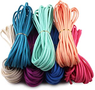 Micro-Fiber Flat Leather Lace Beading Thread Faux Suede Cord String for Jewellery Making Bracelet Necklace DIY Craft