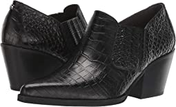 Black Kenya Croco Embossed Leather
