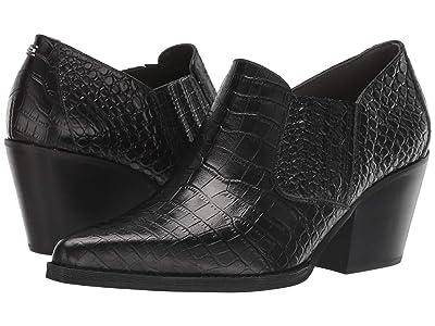 Sam Edelman Walton (Black Kenya Croco Embossed Leather) Women