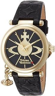 [ヴィヴィアンウエストウッド]Vivienne Westwood 腕時計 ORBII ブラック文字盤 黒革 クォーツ VV006BKGD レディース 【並行輸入品】