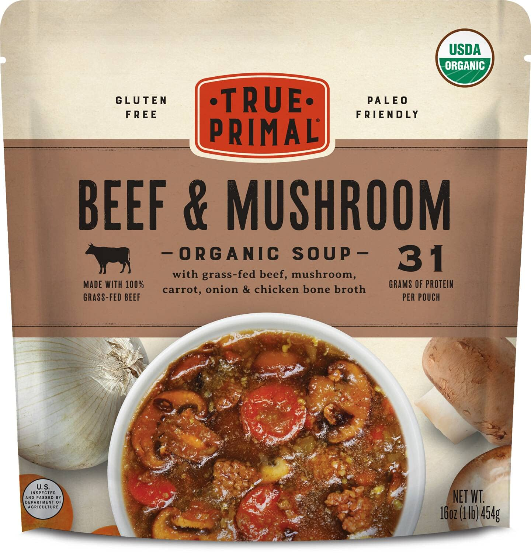 True Max 53% OFF Max 69% OFF Primal Beef Mushroom Soup Organic 8-pack