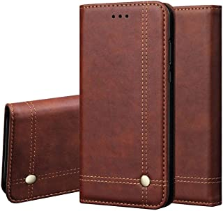 Pirum Magnetic Flip Cover for Vivo S1 Leather Case Wallet Slim Book Cover with Card Slots Cash Pocket Stand Holder - Brown
