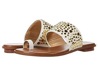 MICHAEL Michael Kors Sonya Studded Sandal (Optic White) Women