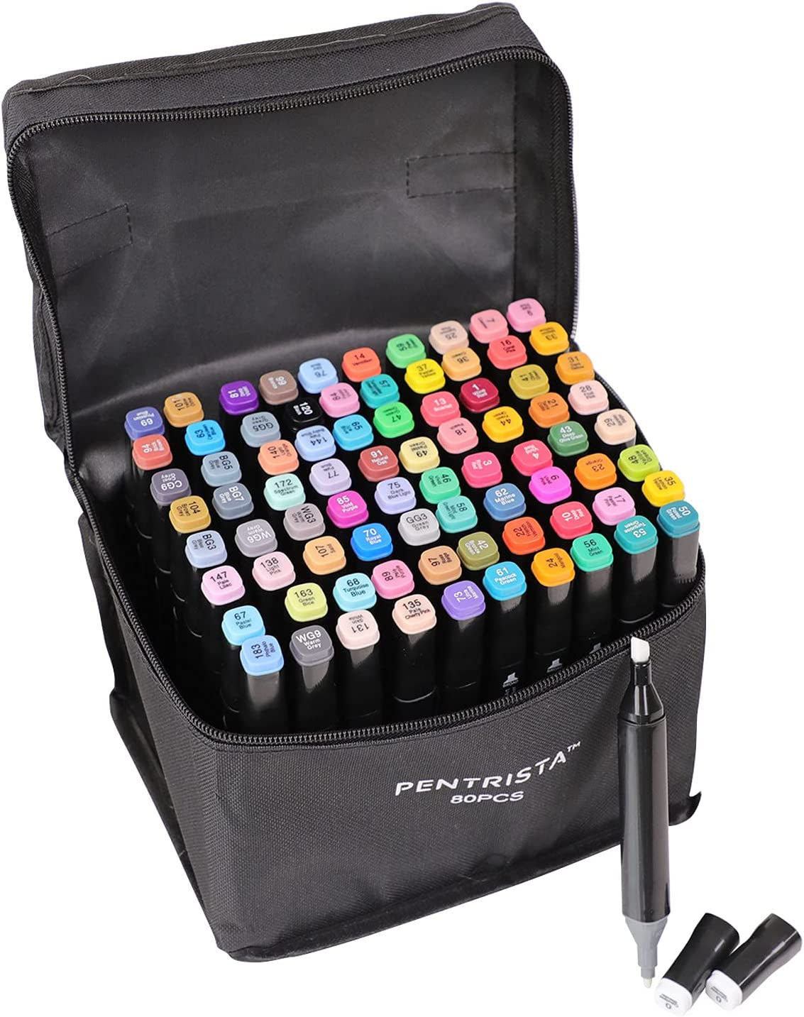 PENTRISTA 80 Colors In a popularity Outlet SALE Alcohol based Markers Dual Ar Tips Permanent