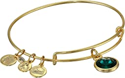 May Birthstone Charm Bangle