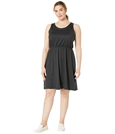 Prana Plus Size Mandoline Dress (Black) Women
