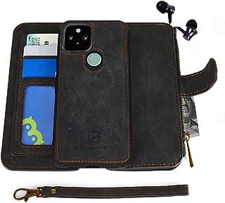 جراب Google Pixel 4a 5G، [محفظة قابلة للفصل Folio][2 في 1] [تخزين النقود السوستة] [حتى 14 فتحة بطاقة واحدة لنافذة الصورة] ...