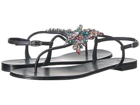 Giuseppe Zanotti Crystal Butterfly Thong Sandal