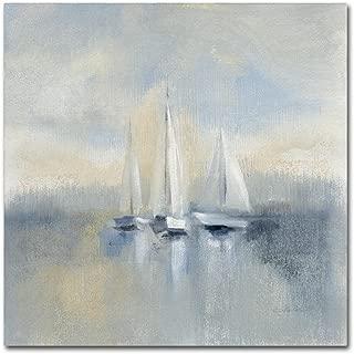 Morning Sail I Blue by Silvia Vassileva, 35x35-Inch Canvas Wall Art