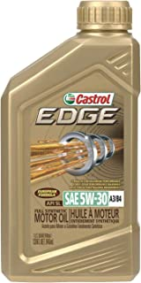 Castrol – 15484E EDGE 5W-30 A3/B4 Advanced Full Synthetic Motor Oil, 1 quart, Gold