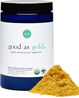 Ora Organic Golden Milk Powder - Ayurvedic Turmeric Powder with Organic Adaptogens - Ashwagandha, Reishi and Ginger | Orga...