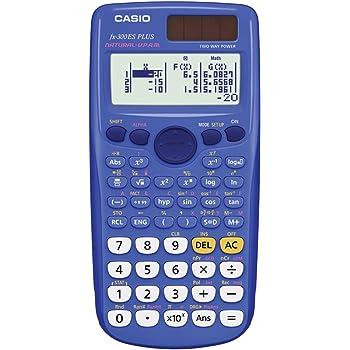 Amazon.com : Casio fx-300ES PLUS Scientific Calculator, Blue : Calculator  Blue Scientific : Electronics