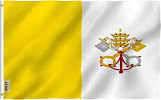 Anley Fly Breeze 3x5 Foot Vatican Flag - Vivid Color and UV Fade Resistant - Canvas Header and Double Stitched - State of Vatican City Flags Polyester with Brass Grommets 3 X 5 Ft