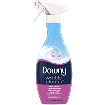 Downy Wrinkle Releaser Static Remover, Odor Eliminator, Fabric Refresher and Ironing Aid, 16.9 Fluid Ounce (Pack of 4) (Light Fresh)
