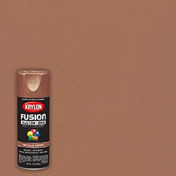 Krylon K02768007 Fusion All-In-One Spray Paint for Indoor/Outdoor Use, Metallic Copper