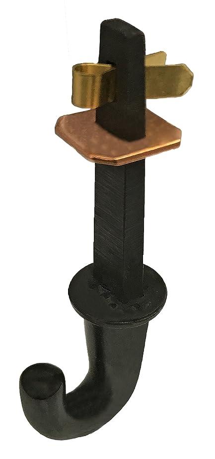 郡憂鬱なおかしい福井金属工芸 茶室用 釜を天井から鎖で吊るための釘 蛭釘セン差 並 大(釜蛭釘) CR-7