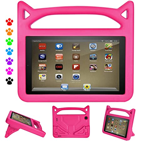 Amazon Com Kindle Fire 7 Case Fire Tablet 7 Case Amazon Fire 7 Case For Kids Dinines Kids Shock Proof Protective Cover Case For Amazon Fire 7 Tablet Compatible With 2019 2015 2017 Release Electronics