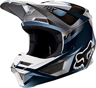 Fox Racing V1 Motif Youth Boys Off-Road Motorcycle Helmet - Blue/Gray/Large