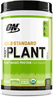 Optimum Nutrition Gold Standard 100% Plant Based Protein Powder, Vitamin C for Immune Support, Vanilla, 1.51 Pound