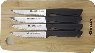 Tabla Trinchar Bamboo Quttin con 4 Cuchillos 17x15x1,5cm