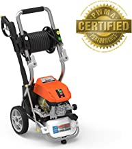 """YARD FORCE YF2200LC 2200 PSI Liquid-Cooled Electric Pressure Washer with """"Live"""" Hose Reel and Bonus Turbo Nozzle"""