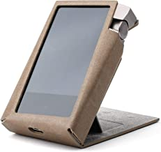 for Astell&Kern A&Norma SR15, Hand Crafted Miter PU Leather Case Cover [Patented Stand Case] A & Norma SR 15 Case (Ash Brown)