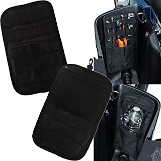 Goldfire Motorcycle Accessory: Internal Saddlebag Storage Organizer Suits for Harley Touring Motorcycles, Black