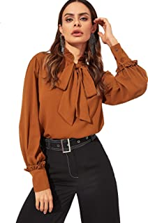 rust coloured blouse