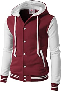 Mens Casual Slim Fit Varsity Baseball Jackets Bomber Cotton Lightweight Coats