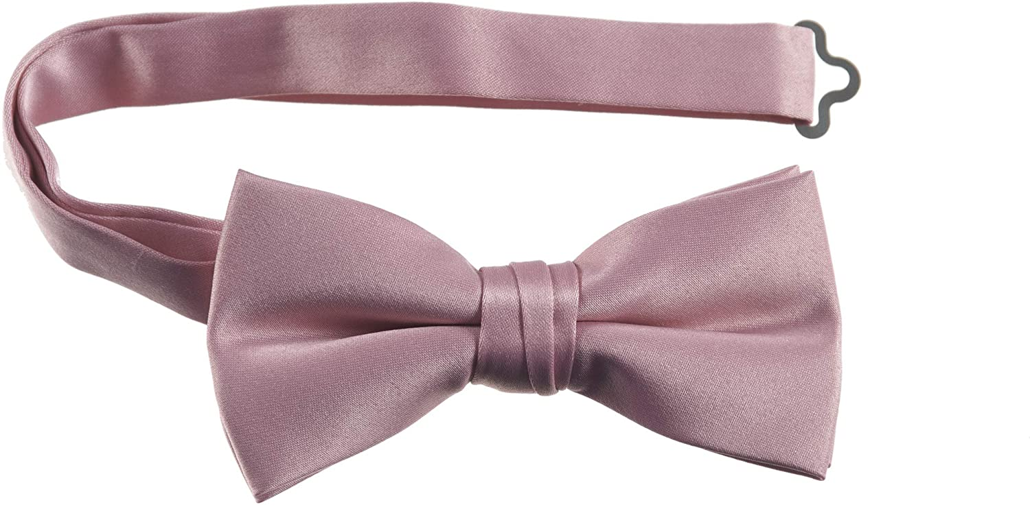 Tuxgear Adjustable Satin Bow Tie for Men Youth Boys Toddlers in Assorted Colors
