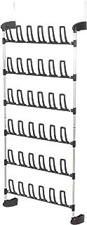 Compactor Range Chaussures de Porte 18 Paires, Acier Laqué Époxy et ABS, Noir, Dim : 68 x 16.5 x H.155 cm, RAN3397