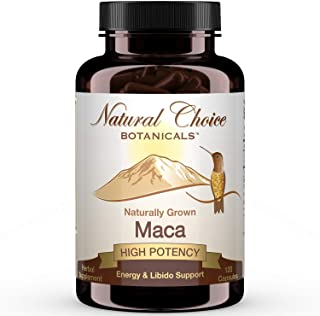 Organic Maca Root Extract (High Potency) Concentrate Supplement - 120 Capsules