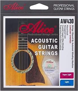 Alice Super Light 6-Strings Coated 011-052 Acoustic Guitar Strings, 2 Pack