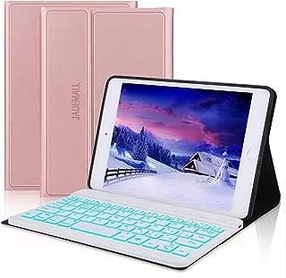 iPad Mini Keyboard Case Compatible iPad Mini 5 (5th Gen 2019) - iPad Mini 4 - iPad Mini 3 - iPad Mini 2 & 1 - Folio Leather Protective Cover, Ultra Thin & Light, Wireless Bluetooth Keyboard, Rose Gold