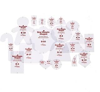 Riley Blake Designs Lori Holt Cozy Christmas Sew Simple Shapes 20pc Set