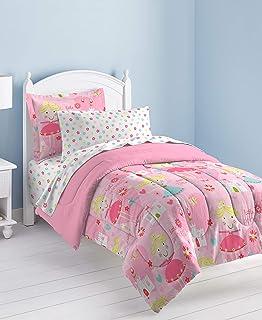 100a9901de Dream Factory Pretty Princess Ultra Soft Microfiber Girls Comforter Set,  Pink, Twin