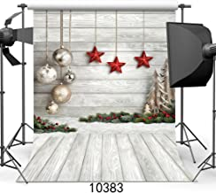SJOLOON 6X9ft Christmas Balls White Wood Floor Photography Backdrop Fabric Photo Backdrops Customized Studio Background JLT10383