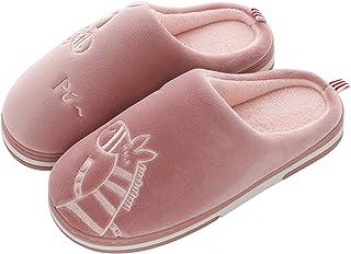 CELANDA Pantofole da Casa Donna Uomo Inverno Peluche Ciabatte Interne Morbido Antiscivolo Caldo Cotone Scarpe Suola di Mem...