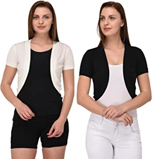 Espresso Women's Front Open Short Shrug - Pack of 2