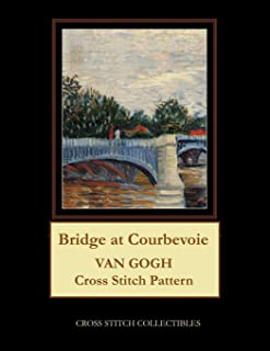 Bridge at Courbevoie: Van Gogh Cross Stitch Pattern