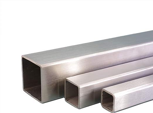 Korn 240 L/änge 2000 mm Abmessungen /Ø 48,3mm x 2,0mm V2A Edelstahl Rohr rund Oberfl/äche geschliffen