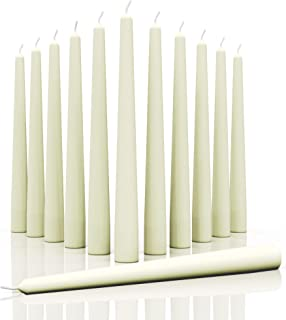 Candwax 12 inch Taper Candles - Dripless and Smokeless Candle Unscented - Slow Burning Candle Sticks are Perfect As Thanks...