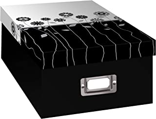 Pioneer Photo Albums B-1BW Photo Storage Box, Long Stems Design
