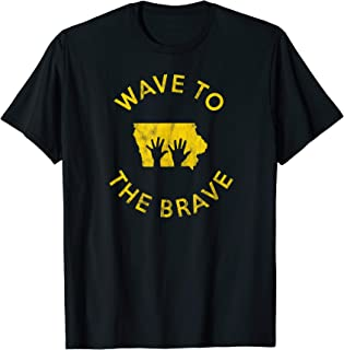 Iowa Wave to the Brave Football Childrens Hospital T-shirt