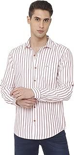 Mufti Men's Striped Slim Fit Casual Shirt
