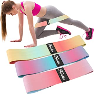 Fundia Resistance Bands Loop for Legs, Exercise Bands Fitness Workout Pilates Band for Yoga Sports Hip Stretch Gym EquipmentElastic Leg Bands Set for Women Men Muscle Training